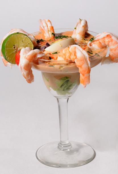 Resultado de imagen para coctel de langostinos con salsa golf